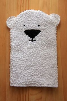 """Polar Bear Glove Puppet. Need to check out the rest of the blog too since it's called """"Things for Boys"""" :)"""