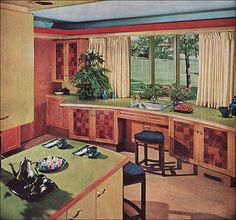 1963 Brave New Color in the Kitchen | Flickr - Photo Sharing! Another bump out.