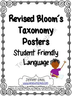 The Blooms Bunch: Kid-Friendly Revised Bloom's Taxonomy