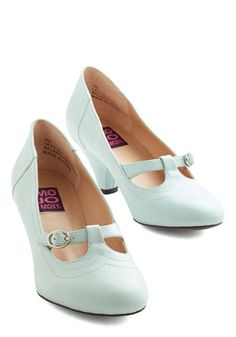 So Much Lovely Heel in Mint   Mod Retro Vintage Heels   ModCloth.com
