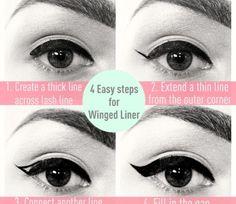 Winged eye liner @Luuux