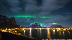 Reine and the northern lights, NORWAY