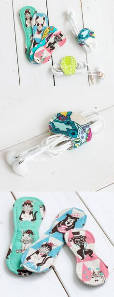 Rosanna Headphone and Cord Wrapper FREE PDF Pattern - ithinksew.com