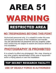 Area 51 warning - Acrylic Key Ring - http://robsemporium.com/product/area-51-warning-acrylic-key-ring/