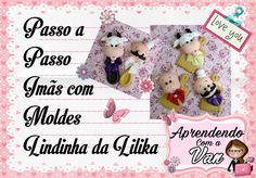 (DIY) PASSO A PASSO IMÃS COM MOLDES LINDINHA DA LILIKA - Especial Dia da... Pasta Flexible, Biscuits, Videos, Christmas Ornaments, Holiday Decor, Clay Tutorials, Camera Phone, Van, Youtube
