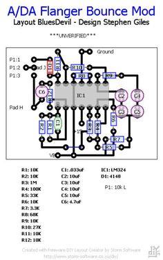 Bounce Mod circuit for Moosapotamus Flanger **NOT VERIFIED**