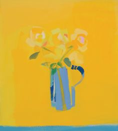 Yellow Roses by Claire Harrigan RSW at Lime Tree Gallery in Suffolk & Bristol, England Abstract Flowers, Abstract Art, Abstract Paintings, Glasgow School Of Art, Artist Bio, New Artists, Yellow Roses, Beautiful Paintings, Color Splash