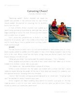 Canoeing Chaos - Fourth Grade Reading Comprehension Test: Use the information in the story to answer the 5 comprehension questions. Answer Key Is Included.    Canoeing Chaos | 4th Grade Reading Comprehension – Click Here    Information: Fourth Grade Reading Comprehension. 4th Grade Reading Comprehension Test Practice Worksheets.