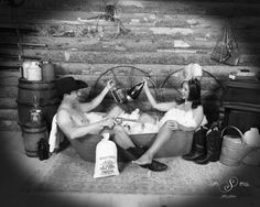 Rub a dub dub drinks in the tub! 🥂🛁💙 At Silk's Saloon Olde Tyme Photos in Glenwood Springs, CO at Glenwood Caverns Adventure Park Old Time Photos, Cowboy And Cowgirl, Couple Pictures, Photo Shoots, West Coast, Tub, Westerns, Trips, Colorado