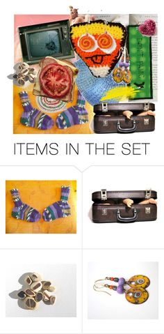 """""""Crazy for Etsy"""" by canisartstudio ❤ liked on Polyvore featuring art and vintage"""