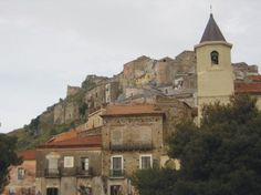 the old city of Scalea, Calabria, Italy