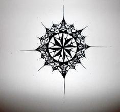 Compass mandala tattoo...in the middle put a quad celtic knot