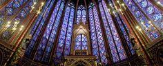 Vidrieras de la Sainte Chapelle en Paris.