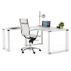 fauteuil de bureau rotatif amen en polyurethane blanc