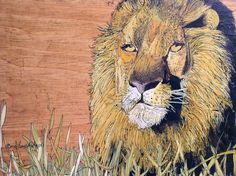 Lion Nature Box Painted Furniture Distressed by BetweenTheWeeds, $99.00