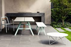 Yogi Outdoor Furniture by Jardan Lab   This cleverly designed outdoor table features a strong yet lightweight...