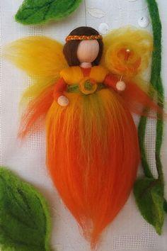 Crochet How to do a Flat Slip Stitch Join - Crochet Trivets Yarn Dolls, Wool Dolls, Felt Dolls, Felt Crafts Patterns, Crochet Patterns, Felt Angel, Spring Fairy, Felt Christmas Decorations, Needle Felting Tutorials