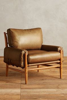 ANTHROPOLOGIE Leather Rhys Chair. Available here: http://rstyle.me/n/cm34j5bcukx