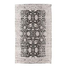 Cotton chenille carpet in black grey color. The timeless pattern of this rug, is a classic choice for your home. Fabric Rug, Classic Elegance, Rugs On Carpet, Carpets, Shabby, Pattern, Color, Home Decor, Charlotte