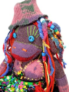sock monkey with dreads