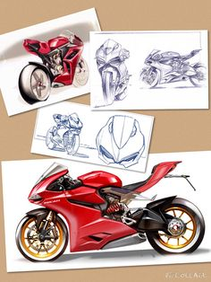 Design Sketches that Brought Ducati 1199