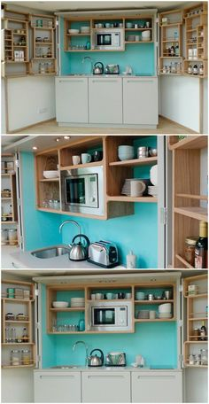 Akitchenetteis a mini-kitchen that at minimum usually has a fridge and a microwave, but some designs pack an impressive amount of functions into a small space. You find kitchenettes in offices, hotels and guest houses, and also in small studio apartments, tiny houses and other small dwellings. The nine designs I have curated are great …