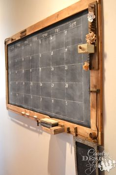 Torrie this is what you need... not a crazy thung that wont stay on the fridge...lol [TV]How to make a large chalkboard for under $25. Free plan download.