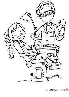 kleurplaat tandarts voor kleuters