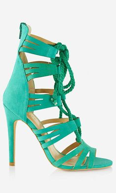 Rope Lace-Up Strappy Runway Sandal - $58