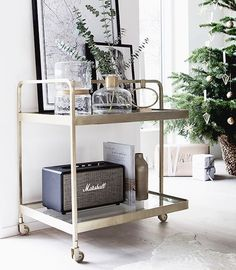 All that glitters... I think my new drinks trolley from @nordal_interiors would look even better with a  few drinks on it don't you?!  better stock up! #barcart #drinkstrolley #brass #christmas