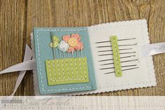 Interior Needle Book Pages by Erin Lincoln for Papertrey Ink (February 2015)
