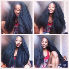 Long Crochet Braids - Where I Am in My Natural Hair Journey: Changes, Commitments, & Confusion Long Natural Hair, Pelo Natural, Natural Hair Journey, Blown Out Natural Hair, Long Relaxed Hair, Love Hair, Big Hair, Gorgeous Hair, My Hairstyle