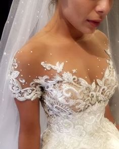 In most instances, picking a neckline is a far simpler decision to make than choosing a silhouette, because there aren't quite as many elements to con. Princess Wedding Dresses, Dream Wedding Dresses, Boho Wedding, Wedding Bride, Bridal Dresses, Wedding Gowns, Dream Dress, Day Dresses, Beautiful Dresses