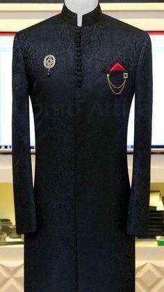 Sherwani for Men Customized by Uomo Attire African Wear Styles For Men, African Shirts For Men, African Dresses Men, African Clothing For Men, Mens Clothing Styles, African Attire, African Style, African Women, Wedding Dresses Men Indian