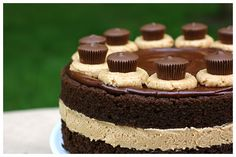 Chocolate Cake with Fluffy Peanut Butter Frosting