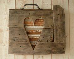 I LOVE this! mixed media wood heart #yardsticks