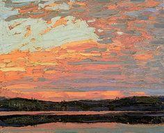 July 8th (Today) the anniversary of the death of Canadian painter, Tom Thomson, one of his sketches painted in 1915, 2 years before this death in Algonquin Park.