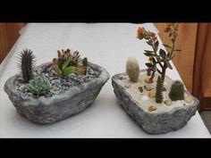 Как сделать вазон из бетона своими руками. - YouTube