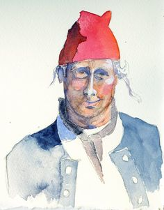 18th century French sailor with red cap