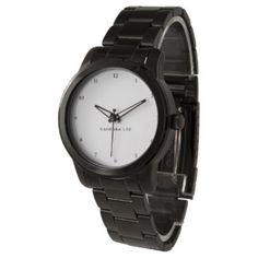Name Your Oversize Black Bracelet Wristwatch