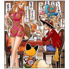 One Piece - Nami, Luffy & Chopper