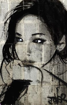 Loui Jover (born April is an Australian painter and artist. Loui Jover is . Loui Jover (born April is an Australian painter and artist. Loui Jover is known for his artwork which focuses on Ink Wash Paintings superimposed with Portrait Au Crayon, L'art Du Portrait, Pencil Portrait, Woman Portrait, Arte Pop, Journal D'art, Journals, Pop Art, Newspaper Art