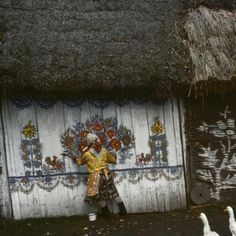 """Bruno Barbey - Poland. Zalipie, the """"painted village"""" near Ternow. Houses are completely painted on the inside and outside by their owners. 1976. for Sale   Artspace"""
