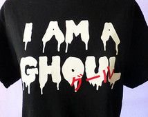 I Am A Ghoul グール Tokyo Ghoul Anime Inspired Tee Shirt