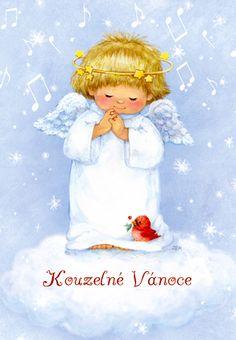 Anděl zpívá - vánoční přání