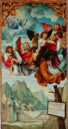 Assumption of Saint Catherine from Saint Catherine poliptych by Hans Süß von Kulmbach in Kraków, 1514-1515 (PD-art/old), Bazylika Mariacka w Krakowie, commissioned by Jan Boner for Boner Chapel in the Town Church of Saint Mary in Kraków