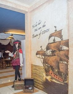 Pirates Statue - Pirates Seafood Restaurant and Karaoke Bar Seafood Restaurant, Karaoke, Pirates, Vintage World Maps, Restaurants, Statue, Bar, Painting, Cagayan De Oro