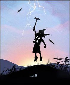 'When I Grow Up' Illustration Series by Andy Fairhurst illustrations, babi thor, superhero kid, kids