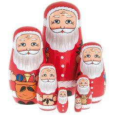 Father Christmas Nesting Dolls