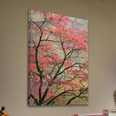 Marmont Hill Red Zen Painting Print on Wrapped Canvas & Reviews | Wayfair